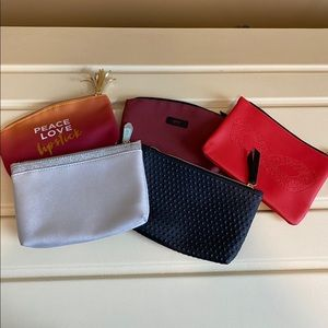 Lot of 5 Ipsy small makeup bags